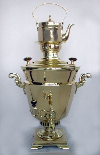 Rare Double Conical Shaped Samovar