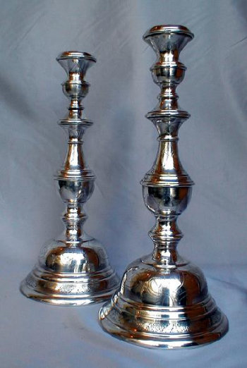 Silver Plated Austro Hungarian Sabbath Candlesticks