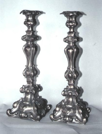 Silver Plated Sabbath Candlesticks