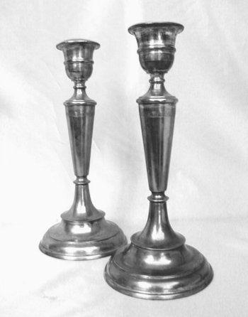 Silverplated Russian Sabbath Candlesticks
