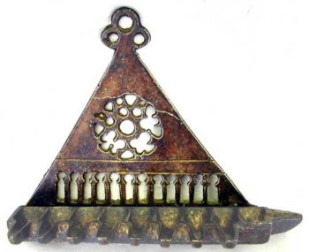 Bronze Hanging Oil Menorah