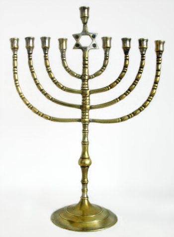 Antique Eastern European Menorah