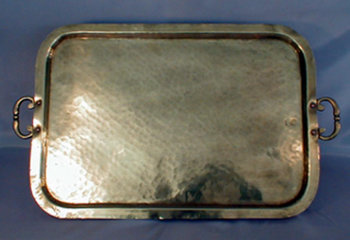 Rectangular Plannished Tray with Handles And Russian Seals
