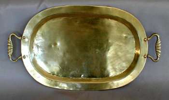 Oval Samovartray with Handles And Russian Seals