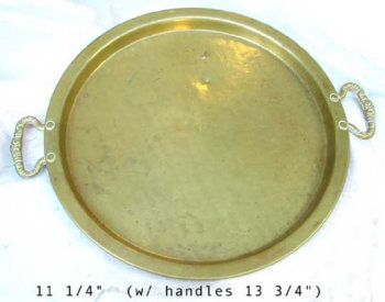 Round Plannished Samovar Tray with Two Handles