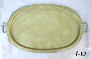 Antique Oval Samovar Tray with Handles