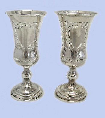19th Century Silver Goblets
