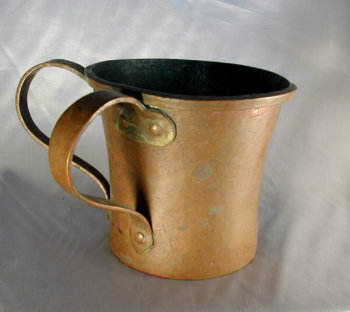 19th Century Hand Wrought Two Handled Copper Laver