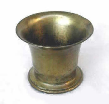 Large Heavyweight Brass or Bronze mortar