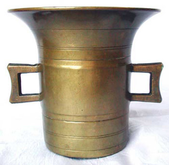 19th Century Bell Metal Mortar