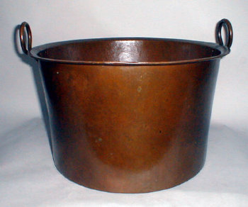18th Century Large Hand Wrought Copper Pot
