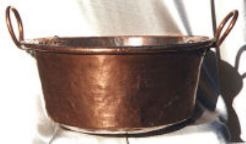 18th Century Hand Wrought Copper Pot