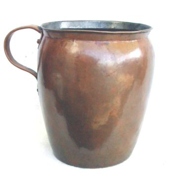 Antique hand wrought Copper Pitcher