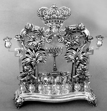 Magnificent Antique Palm Tree Menorah