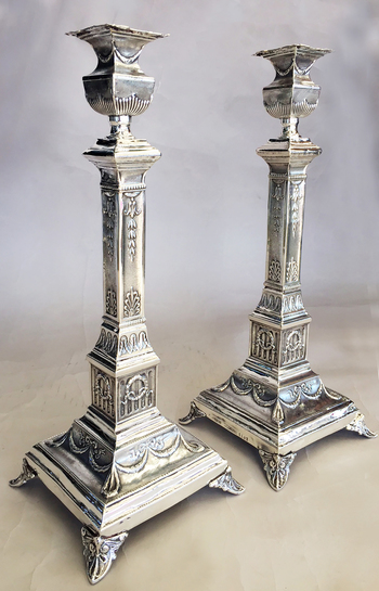 Magnificent Warsaw Candlesticks.
