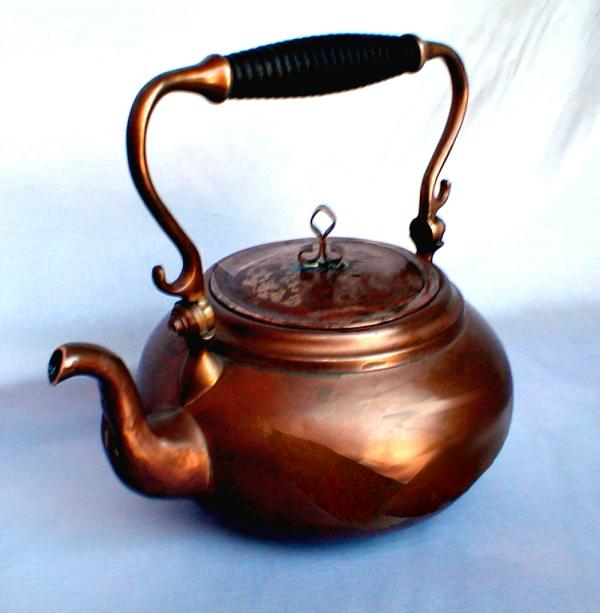 Japanese Copper Tea Pot Hand Made Copper Tea Pot With