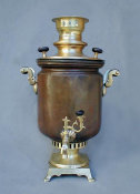 Elegant Peasant Barrel Shaped Samovar