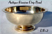 Antique Russian Footed Drip Bowl