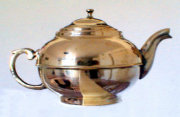 Beautiful Antique Brass Samovar Teapot