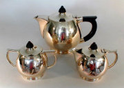 Brass And Ebony Tea Set