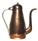 Tall, Hand Plannished Copper Teapot / Coffee Pot