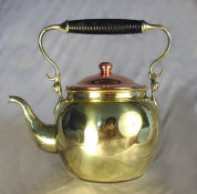 Round Brass Hand Made Tea Pot
