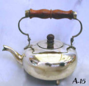 Brass Teapot with Wooden Handle