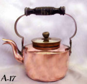 European Antique Kettle with Copper Body