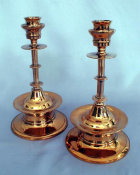 18th Century Bronze Candlesticks