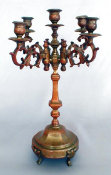 19th Century 5 Light Sabbath Candelabra