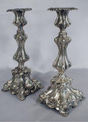 Pair of Sabbath Candlesticks by Jarra