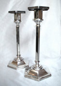English Silverplated Sabbath Candlesticks