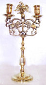 Two Light Brass Sabbath Candelabrum
