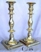 18th Century Heavyweight Sabbath Candlesticks