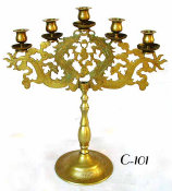 Five Light Chinese Candelabrum