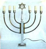 Vintage Mid Century Electric Menorah