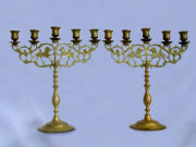 Matched Pair of Large 5-Light Candelabras