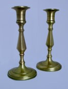 Brass Sabbath Candlesticks