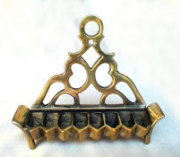 18th Century Italian Brass Oil Menorah