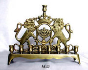19th Century Eastern European Chanukah Menorah