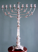 Warsaw 19th Century Silvered Chanukah Menorah