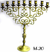 Grand 19th Century Chanukah Menorah