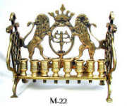 Early 19th Century Bench Style Eastern European Chanukah Menorah