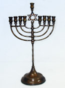 Bronze Eastern European Menorah