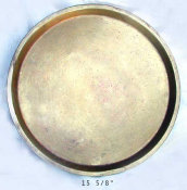 Round Brass Samovar Tray
