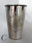 3 German Silver Beaker