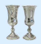 Antique Pair of 19th Century Silver Goblets