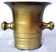 Hanging Bell Metal Apothecary Style Mortar