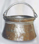 18th Century Hand Wrought Copper Pot with Handle