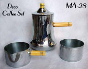 Art Deco 3 Piece Chrome Coffee Set